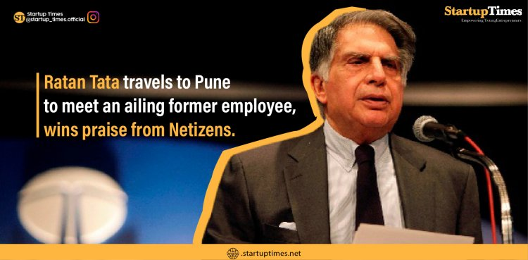 Ratan Tata travels to Pune to meet an ailing former employee, wins praise from Netizens