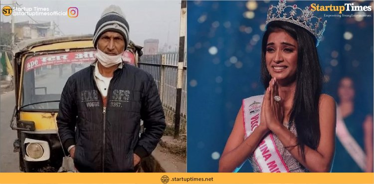 Miss India runner-up Manya Singh goes on a victory rally in her father's autorickshaw